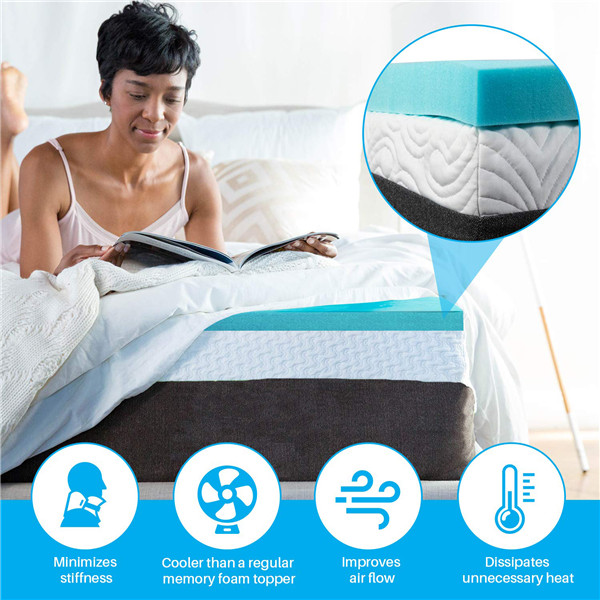 King Queen Size Gel Memory Factory Memory Foam Mattress in A Box Mattress Toppers