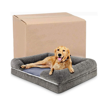 Custom Quilted Sofa Small Eco-friendly Oxford Chew Resistant Breathable Pet Beds