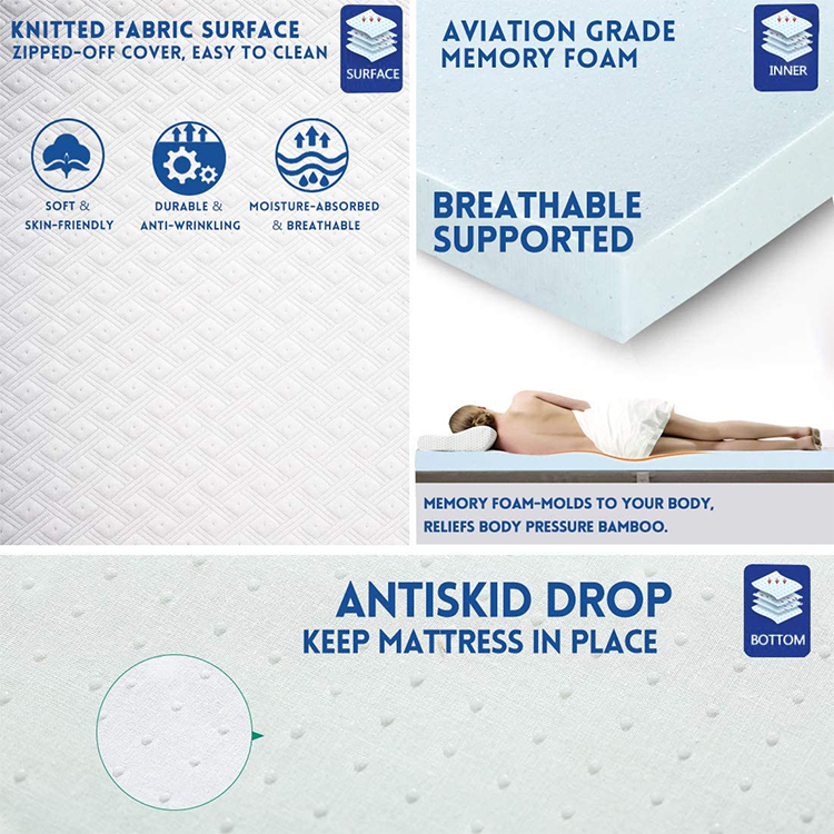 CPS-MM-548 High Quality Polymer Elastic Mattress Topper Comfortable Breathable