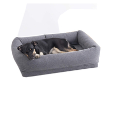 CPS Luxury Bolster Wholesale Factory Hot Sale Memory Foam Pet Dog Bed