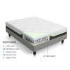 CPS Hot Sale Mattress Spring Foam Mattress Memory Topper Bamboo Mattress