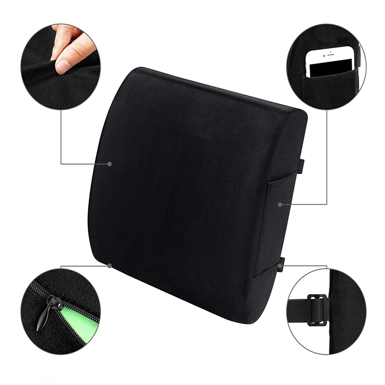 Hot Sale High Density Convenient Breathable Back And Seat Cushion Set