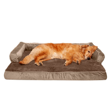 Memory Foam Durable Custom Logo Waterproof Washable Calming Luxury Fur Dogs EDM Pet Bed