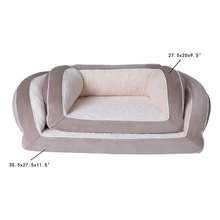 OEM Available New Comfortable Raised Luxury Wholesale Pet Safe Durable Fabric Dog Bed