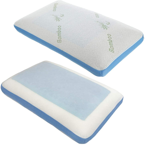 Factory Traditional Washable Bamboo Cover Gel Pad Memory Foam Pillow
