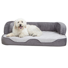 CPS Luxury Washable Large Memory Foam Orthopedic Luxury Pet Sofa Bed For Dogs